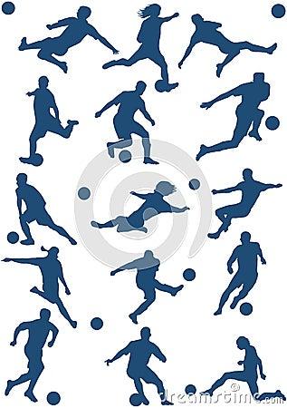 球员足球向量