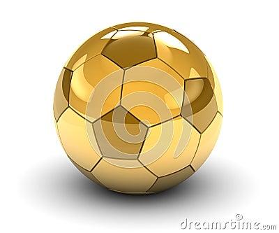 球金黄足球图片