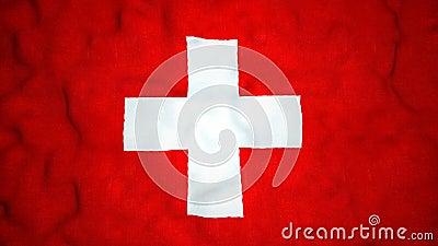 瑞士旗子无缝的录影圈