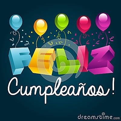 免版税库存照片: 生日快乐用西班牙语