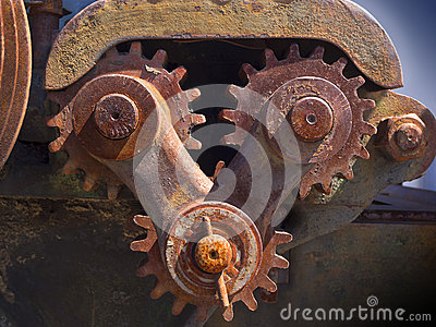 生锈的齿轮