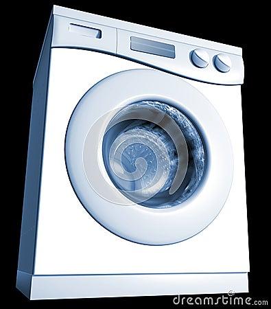 用机器制造洗涤