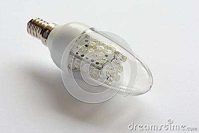 电灯泡能源导致轻的节省额