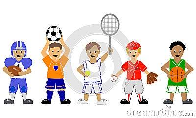 男孩体育运动