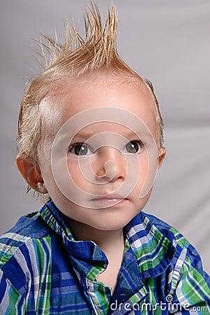 男孩头发尖小孩