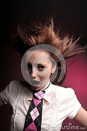 疯狂的叫喊的妇女