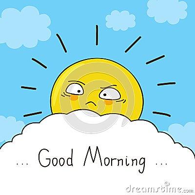 疲乏的太阳祝愿您一早晨好.图片