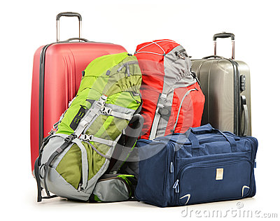 皮箱包括大手提箱背包的和旅行请求