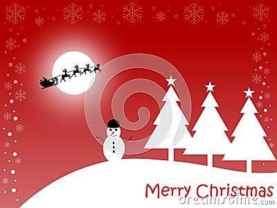 看板卡圣诞节快活的红色