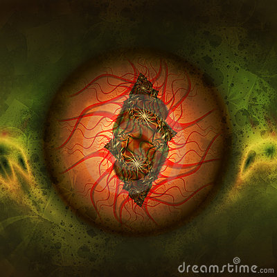 眼睛严重充血图片_无盖充血蠕动的龙眼睛的例证可能.