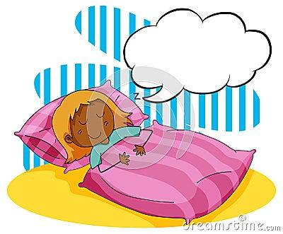 睡觉在床上的女孩图片