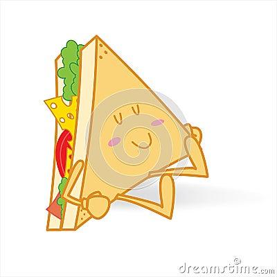 睡觉逗人喜爱的三明治图片