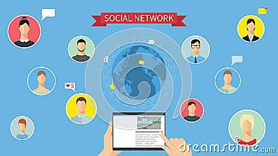社会网络概念动画