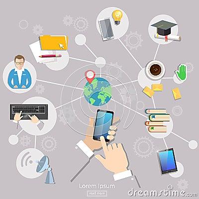 社会网络geolocation人通信学生生活触摸屏机动性.图片