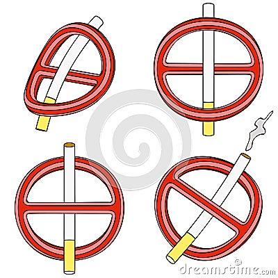 禁止抽烟(四个3d标志)