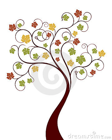 秋天结构树向量