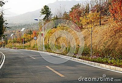 秋天高速公路