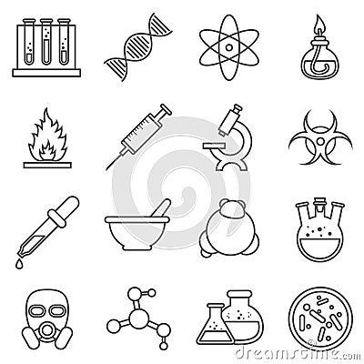 科学实验,化学和生物技术排行象 分子的生物,结构分子,传染媒介例证.