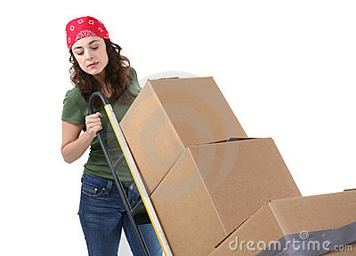 移动妇女的配件箱