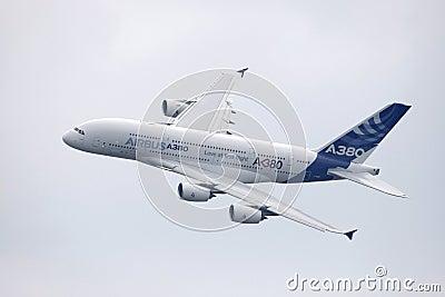 空中客车A380 图库摄影片