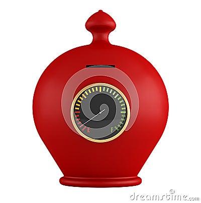 空的红色moneybox