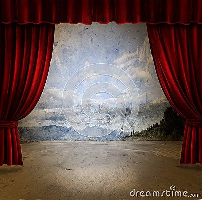 窗帘阶段天鹅绒