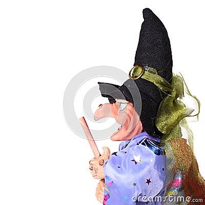 美女美妙老老太婆老巫婆背包被证章的视图配置文件