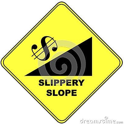 符号溜滑倾斜