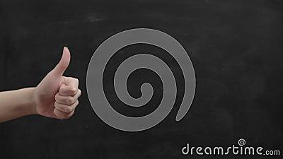 类似手势批准标志手拇指6 股票视频