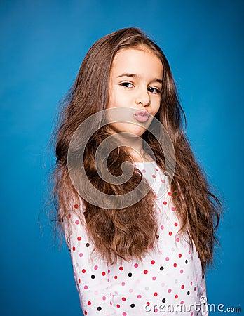 库存照片: 精密女孩的头发图片
