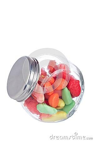 糖果玻璃瓶子