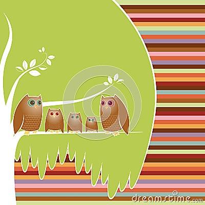 系列猫头鹰结构树