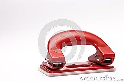 红色办公室纸张打孔器