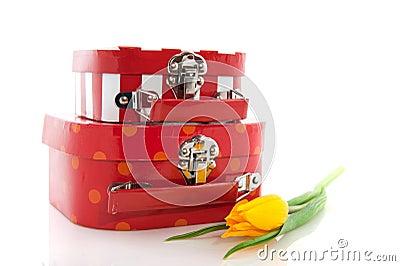 红色手提箱
