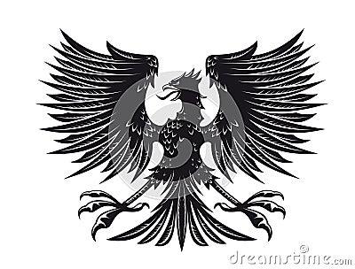 大设计详细老鹰纹章纹身花刺.