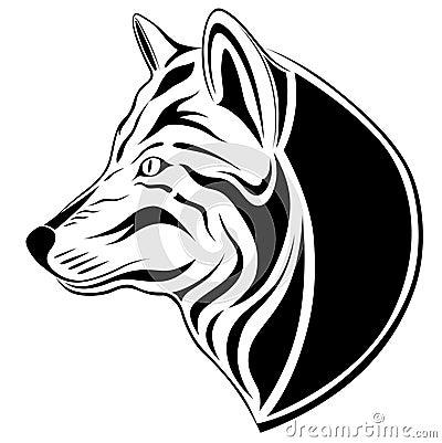 纹身花刺狼
