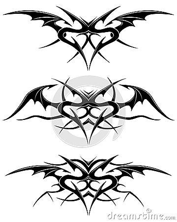 熊爪瓷空白符号纹身花刺翼聚会所背包艺术装饰装饰品