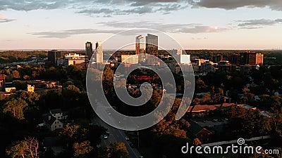 纽约白原市中心空景 影视素材
