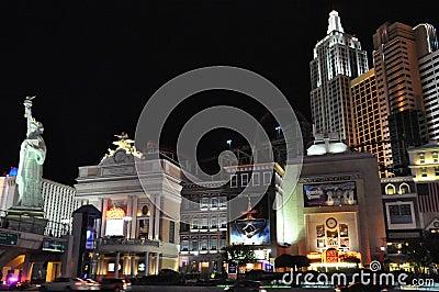 纽约纽约旅馆赌博娱乐场在拉斯维加斯 编辑类库存图片