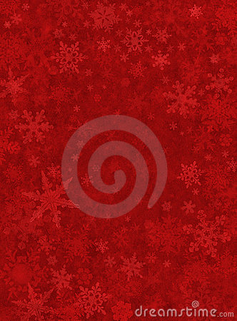 细微背景红色的雪