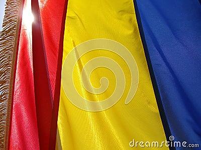 罗马尼亚的旗子