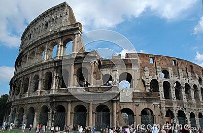 罗马的colosseum 编辑类库存图片