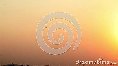 美丽的夜航飞行之旅 这段录像拍摄于印度南部钦奈 股票录像