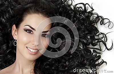 美丽的女孩头发图片