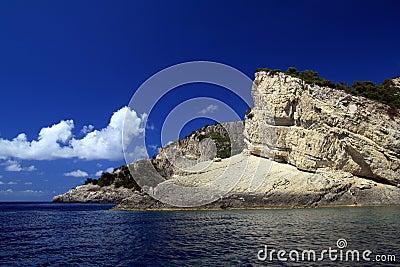 美丽的希腊爱奥尼亚海zakynthos