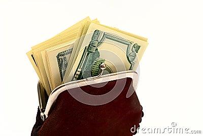 美元充分的钱包