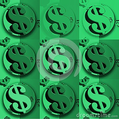 美元绿色美元的符号