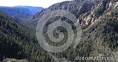 美国亚利桑那州塞多纳的橡树溪小径场景4K 股票录像