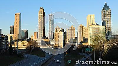 美国佐治亚州亚特兰大市日落4K时的蒂梅拉普谢 影视素材