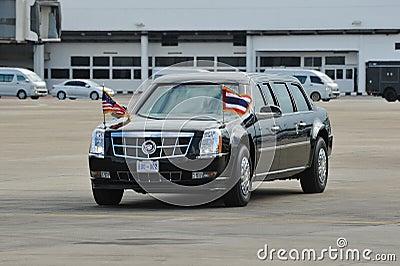美国总统状态汽车 图库摄影片